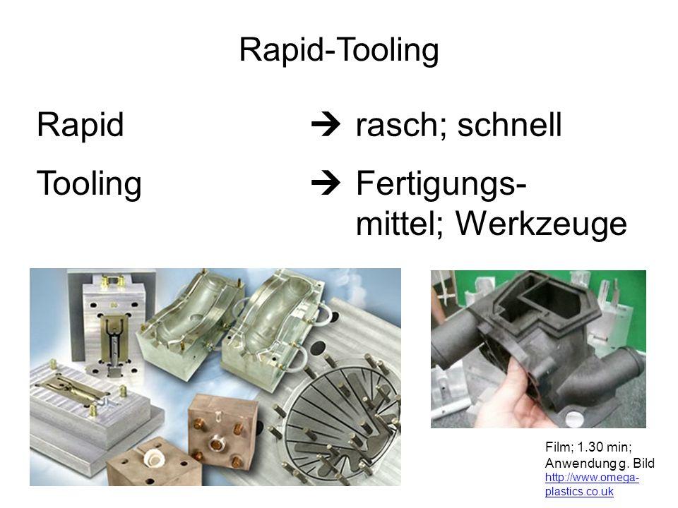 Tooling  Fertigungs- mittel; Werkzeuge