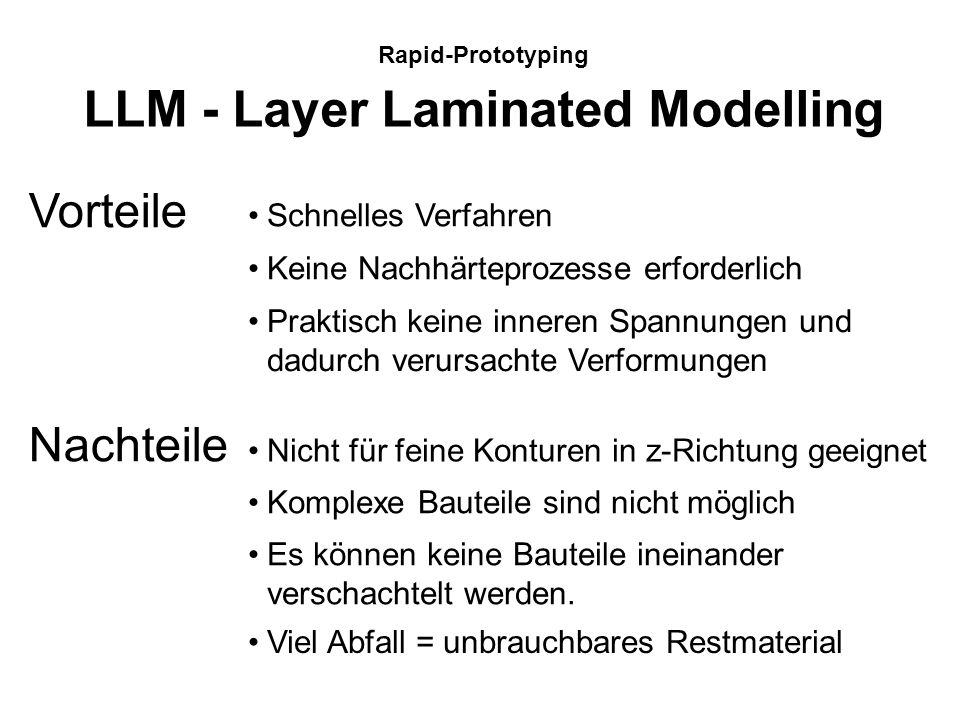 LLM - Layer Laminated Modelling
