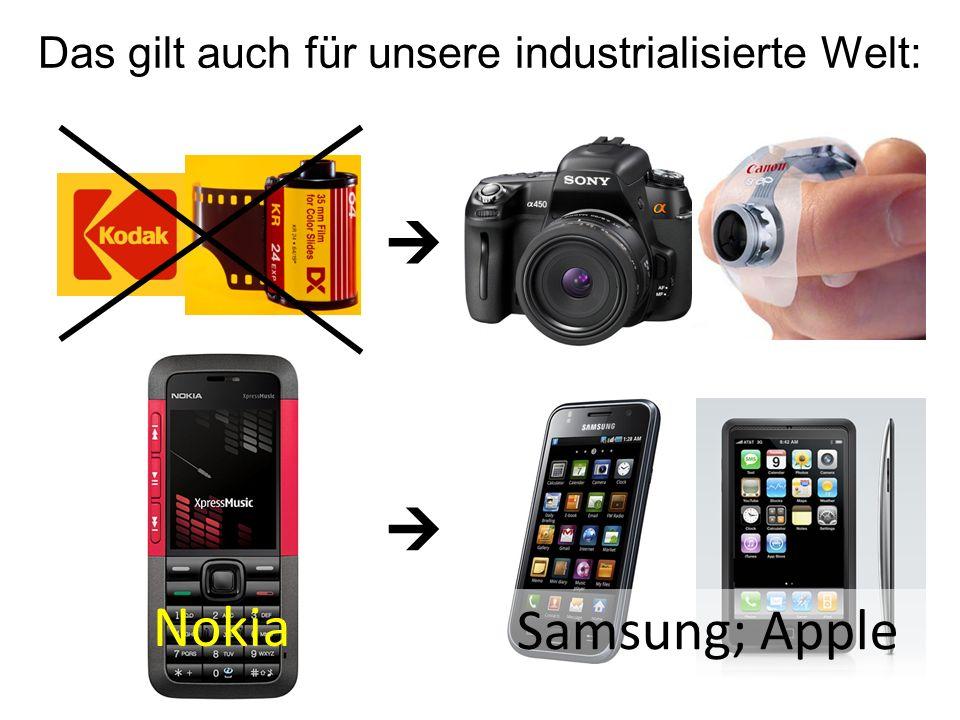 Das gilt auch für unsere industrialisierte Welt: