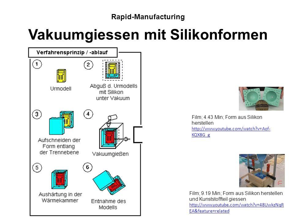 Vakuumgiessen mit Silikonformen
