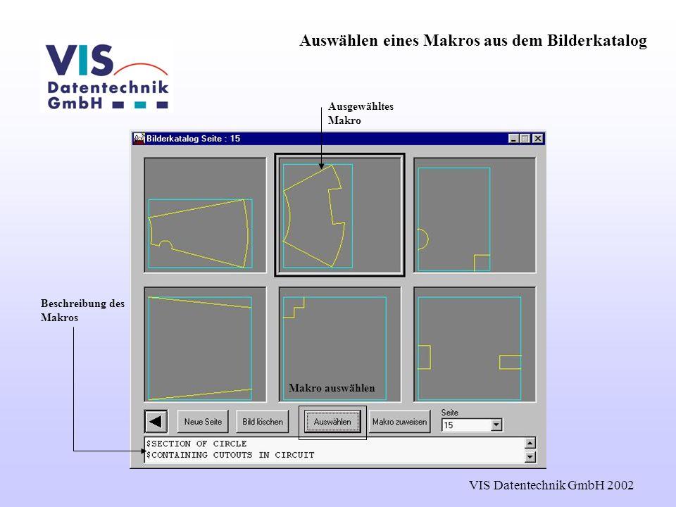 Auswählen eines Makros aus dem Bilderkatalog