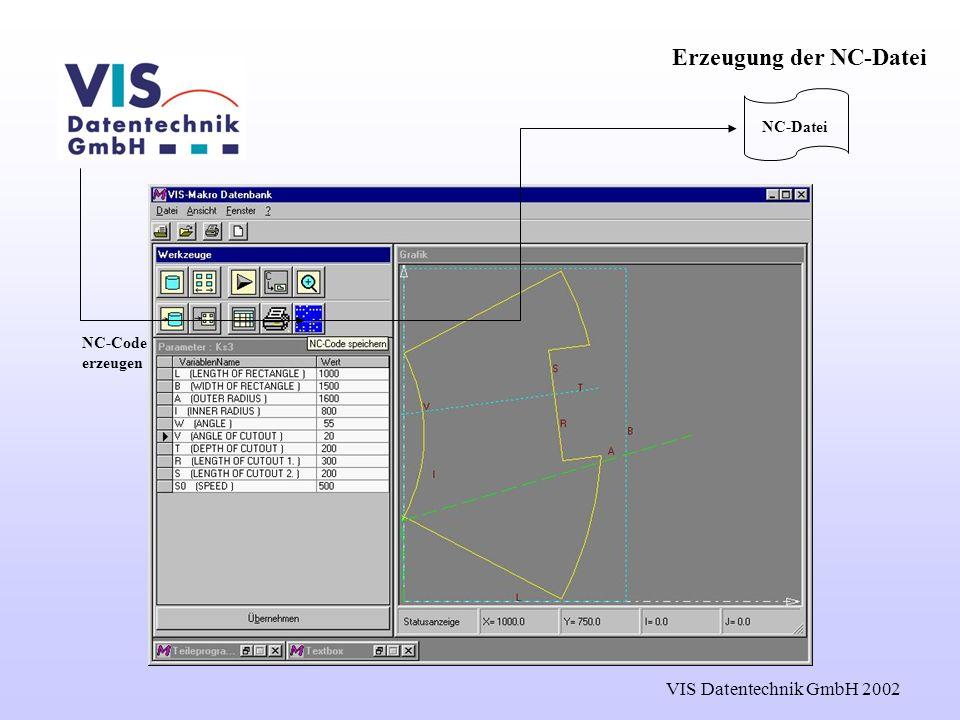 Erzeugung der NC-Datei