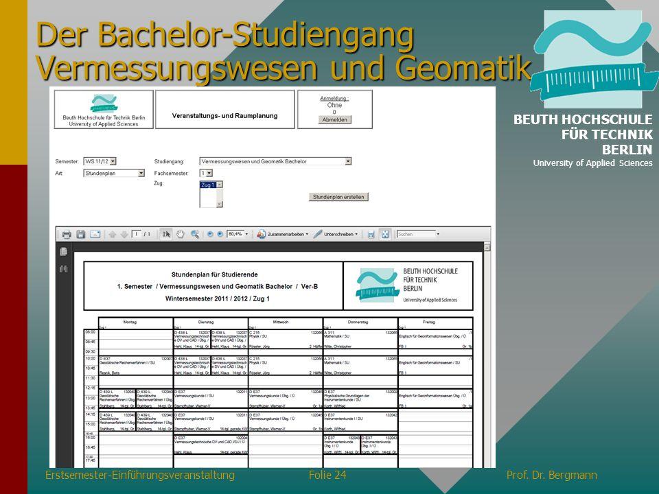 Der Bachelor-Studiengang Vermessungswesen und Geomatik