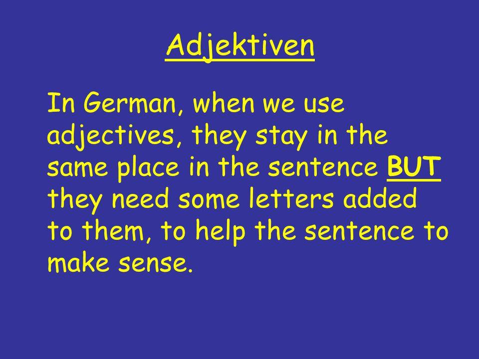 Adjektiven