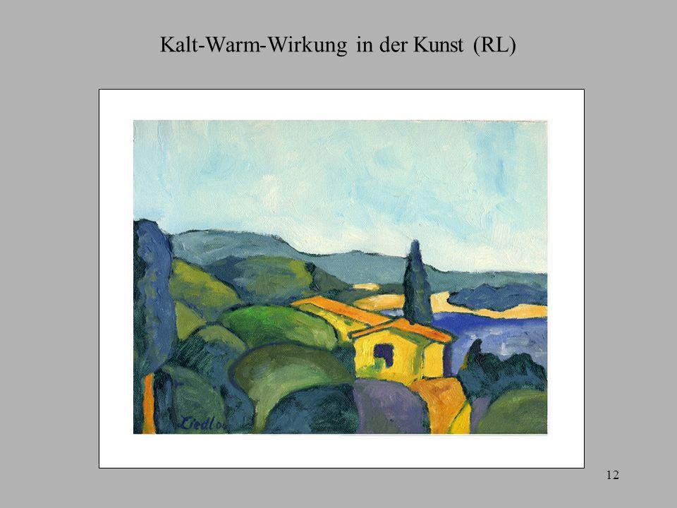 Kalt-Warm-Wirkung in der Kunst (RL)