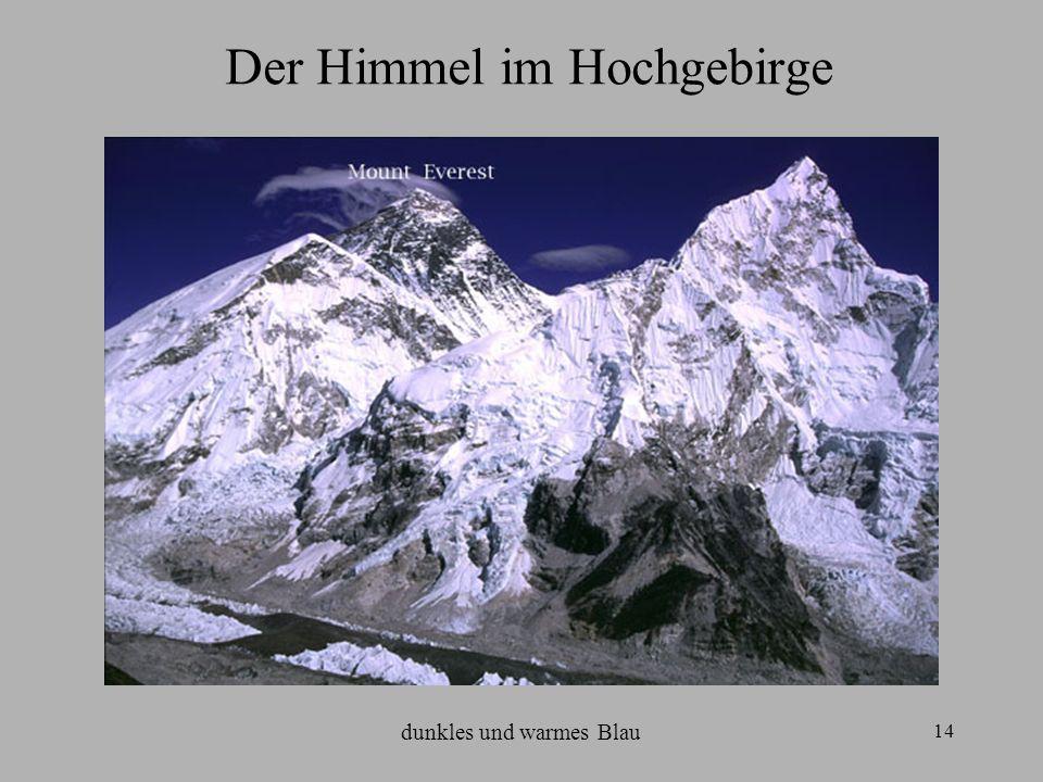 Der Himmel im Hochgebirge