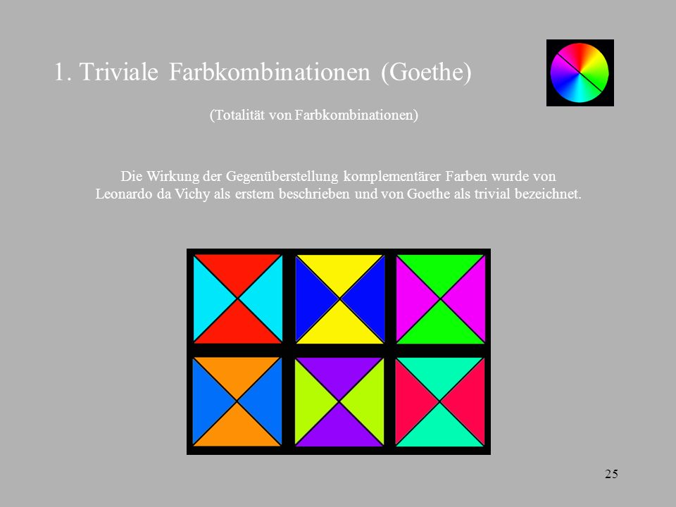 1. Triviale Farbkombinationen (Goethe)