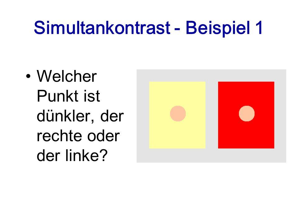 Simultankontrast - Beispiel 1