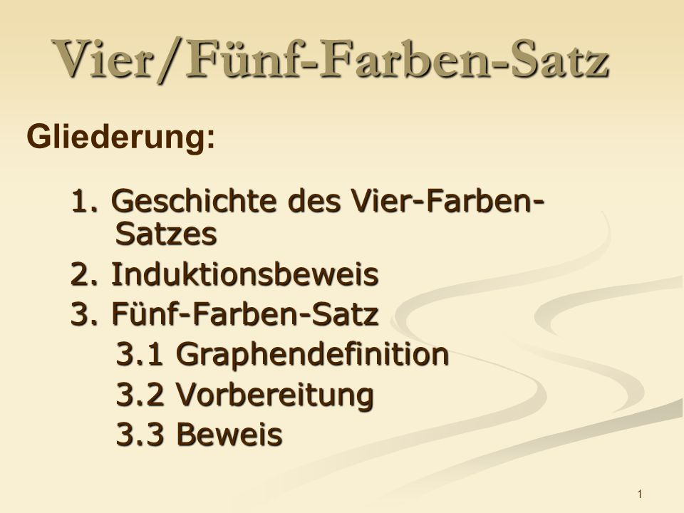 Vier/Fünf-Farben-Satz
