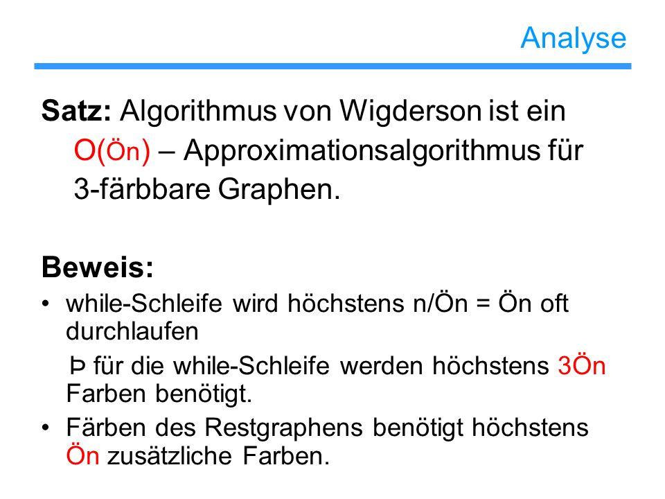 Satz: Algorithmus von Wigderson ist ein