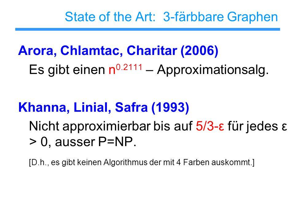 State of the Art: 3-färbbare Graphen