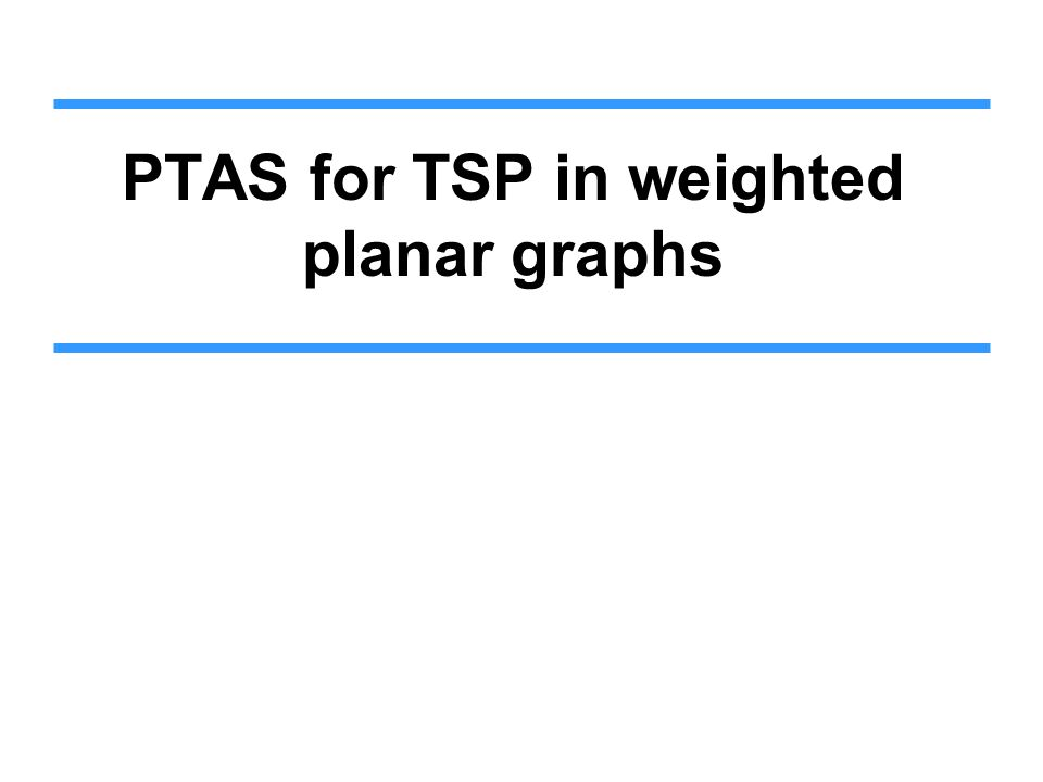 PTAS for TSP in weighted planar graphs