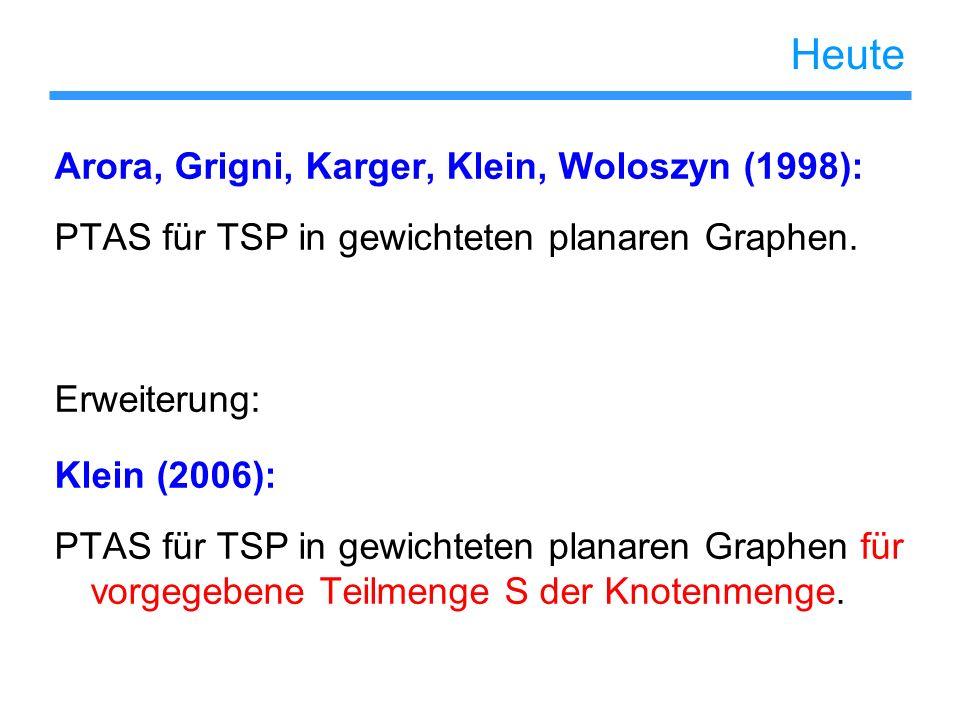 Heute Arora, Grigni, Karger, Klein, Woloszyn (1998):