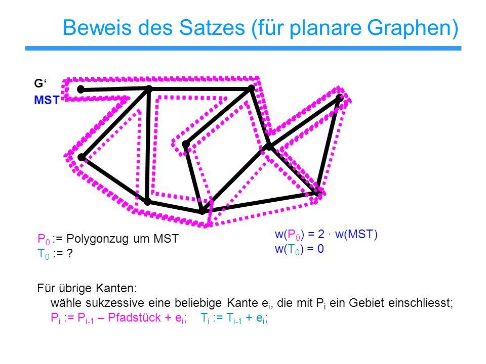 Beweis des Satzes (für planare Graphen)