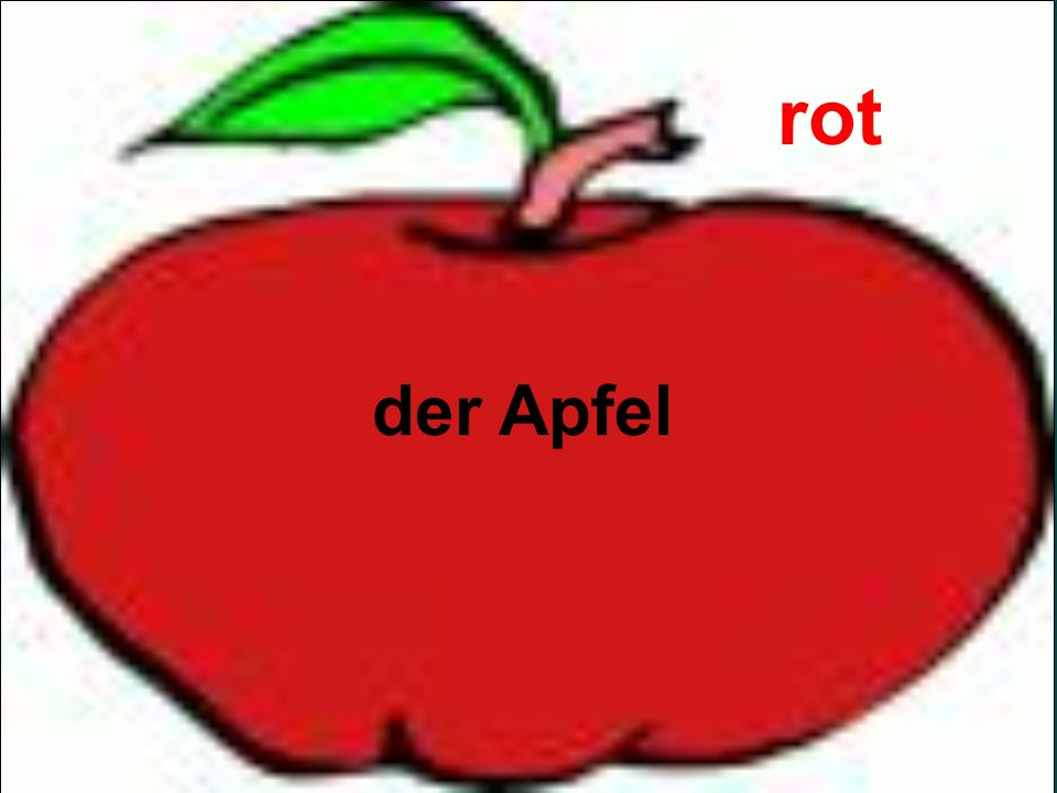 rot der Apfel