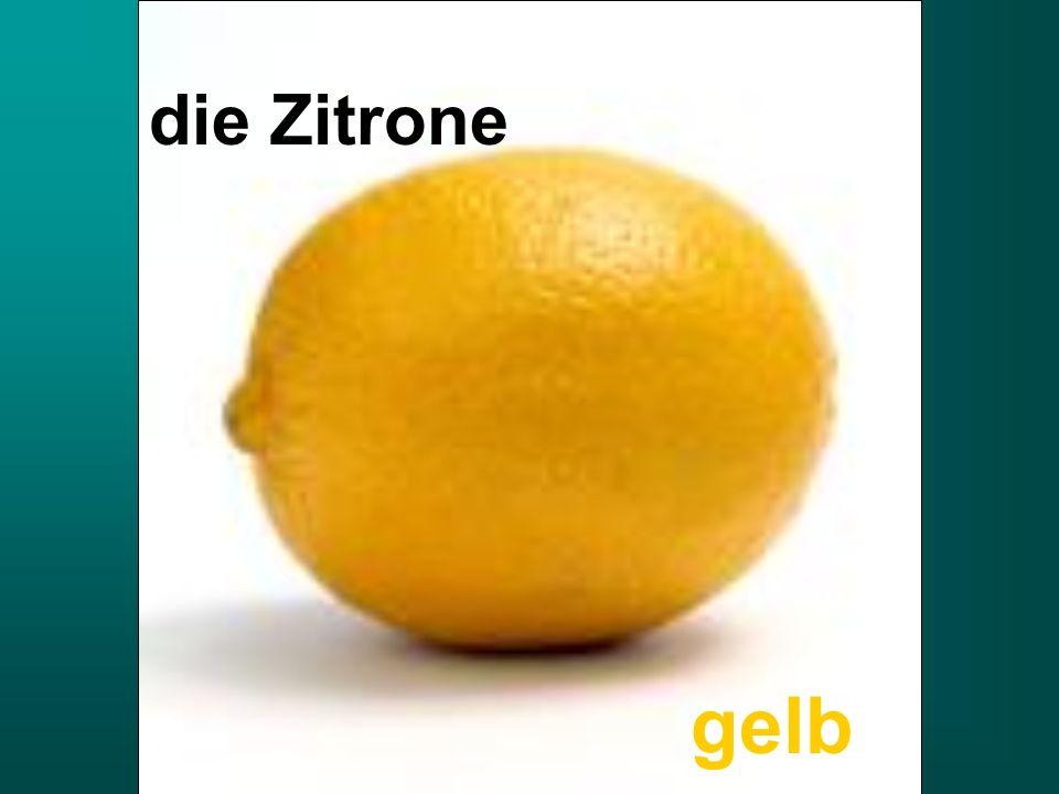 die Zitrone gelb