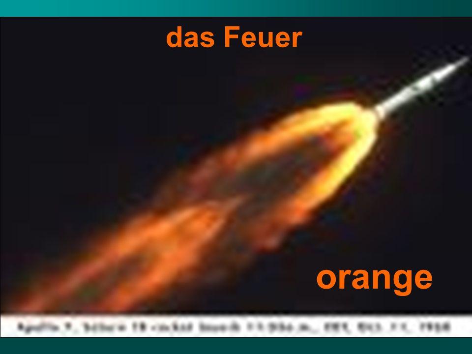 das Feuer orange