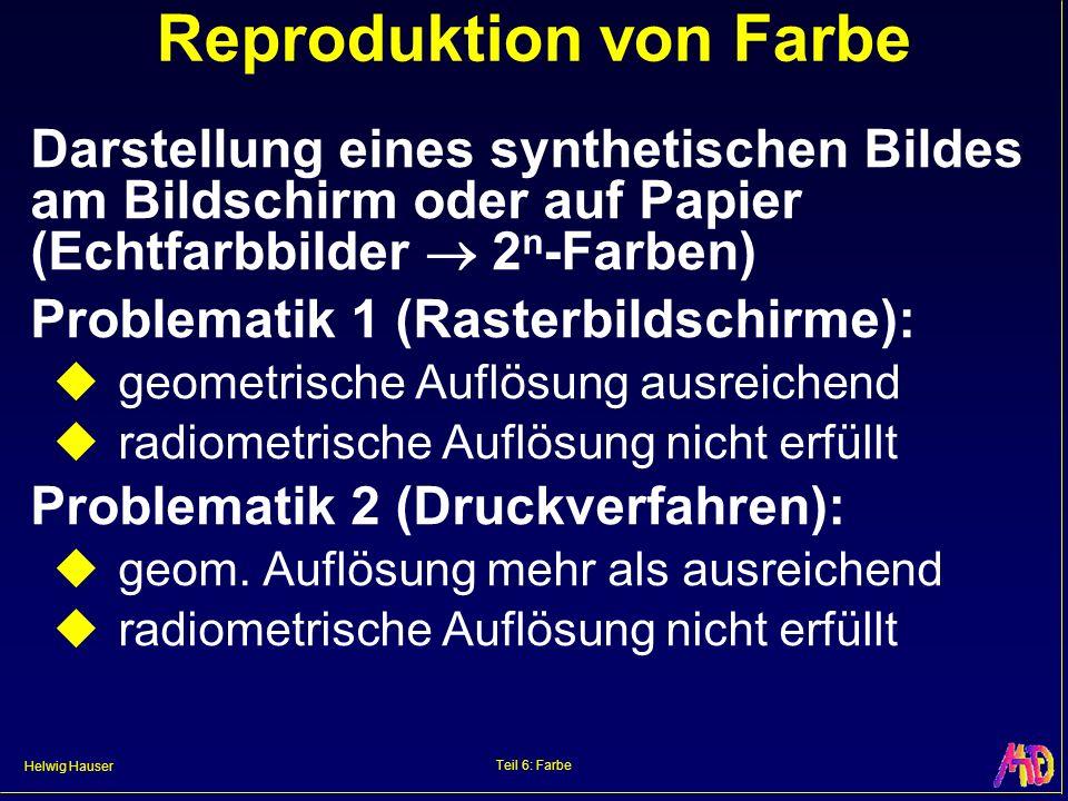 Reproduktion von Farbe