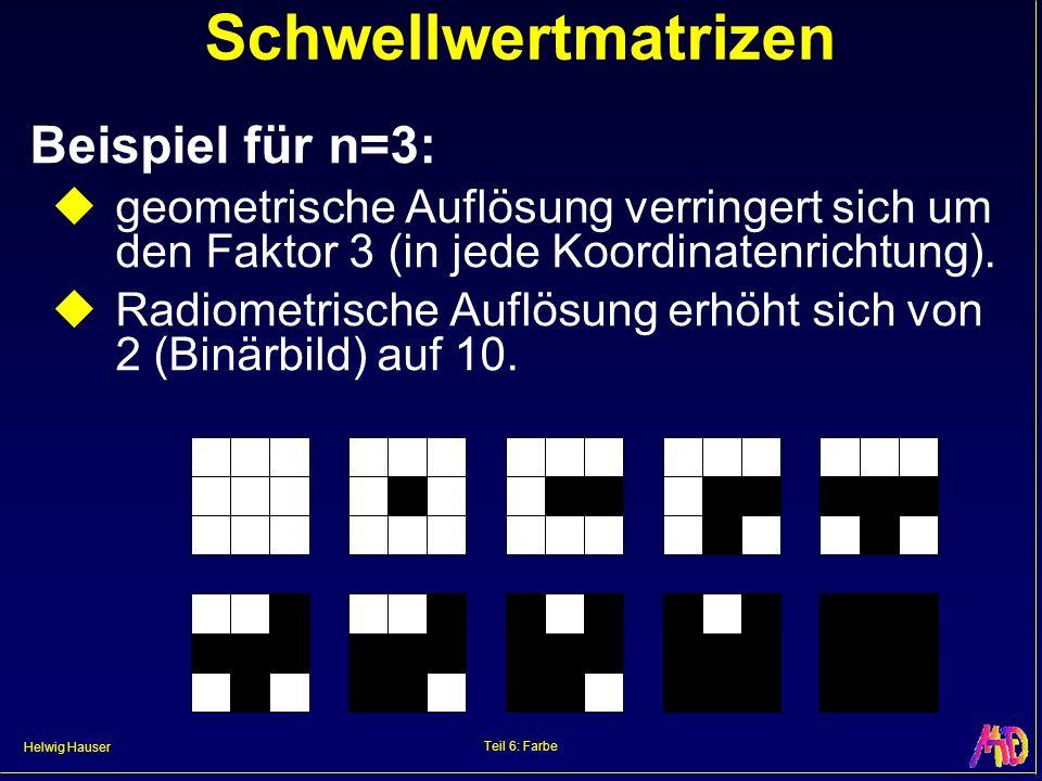 Schwellwertmatrizen Beispiel für n=3:
