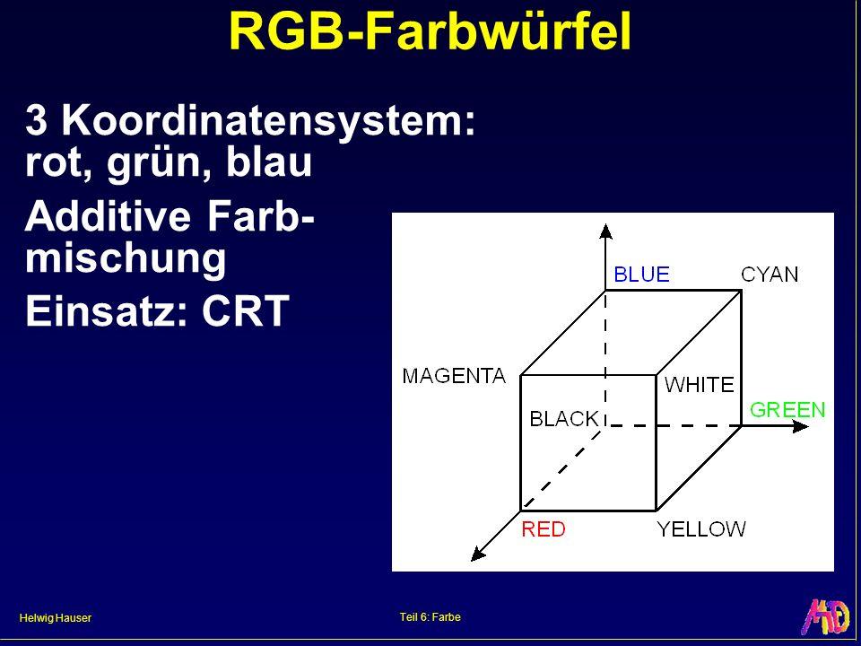 RGB-Farbwürfel 3 Koordinatensystem: rot, grün, blau