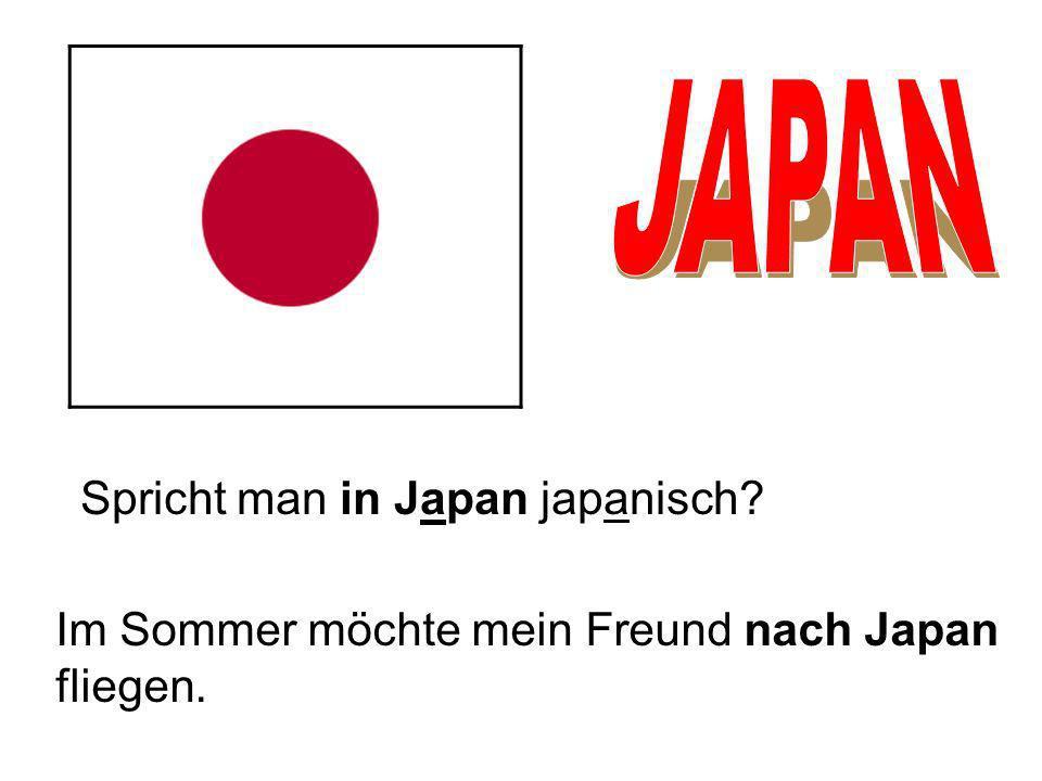 JAPAN Spricht man in Japan japanisch