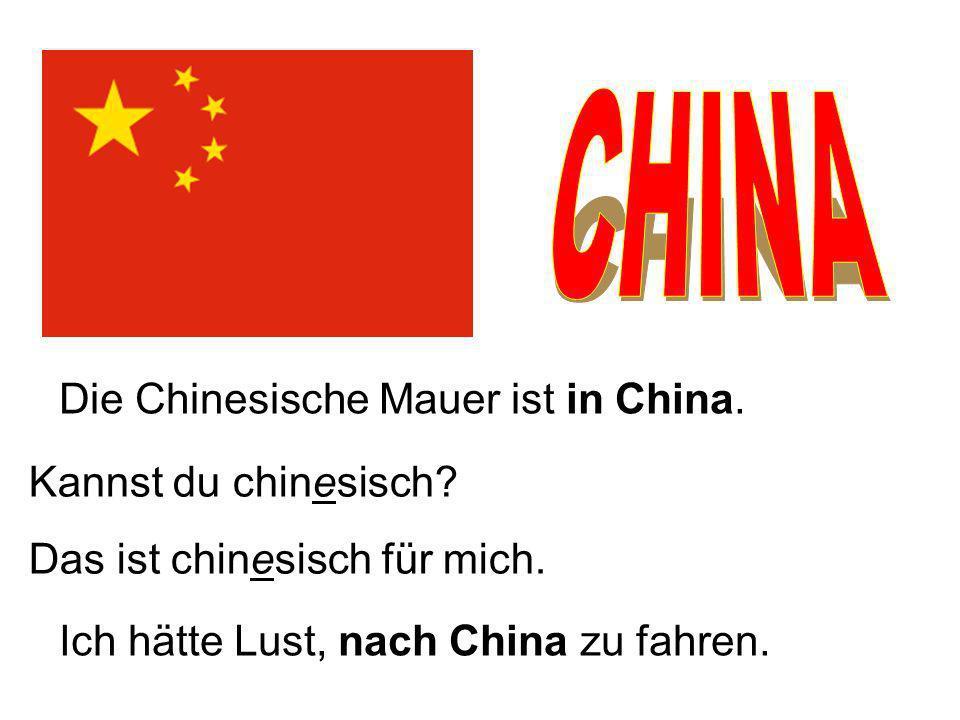 CHINA Die Chinesische Mauer ist in China. Kannst du chinesisch