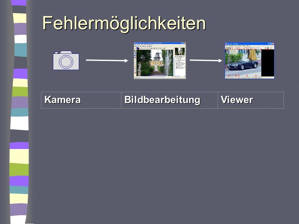 Fehlermöglichkeiten Kamera Bildbearbeitung Viewer sRGB Adobe RGB 8 Bit