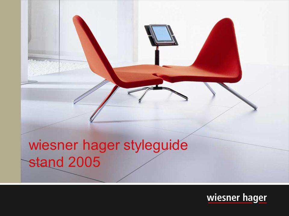 wiesner hager styleguide stand 2005