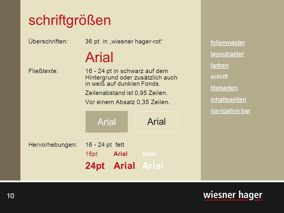 schriftgrößen 24pt Arial Arial Arial Arial