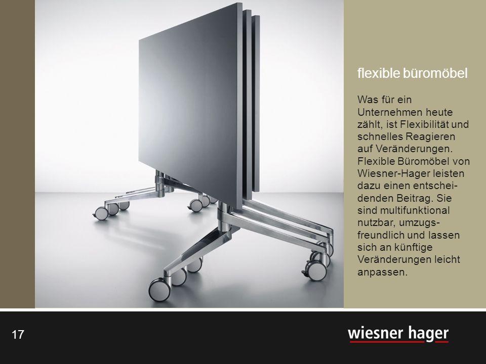 flexible büromöbel Was für ein Unternehmen heute zählt, ist Flexibilität und schnelles Reagieren auf Veränderungen.