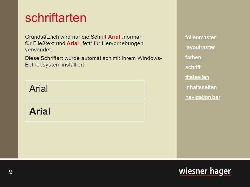 schriftarten Arial Arial
