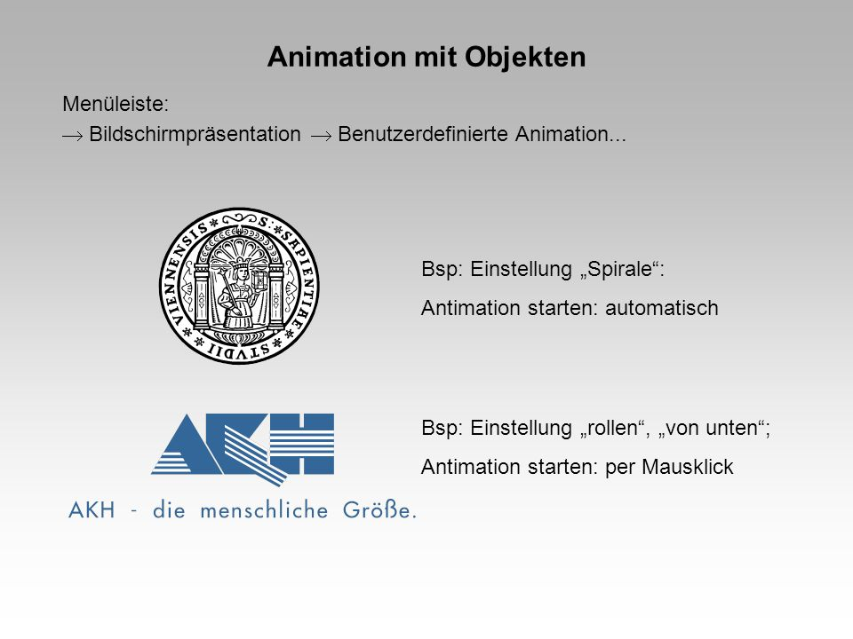 Animation mit Objekten