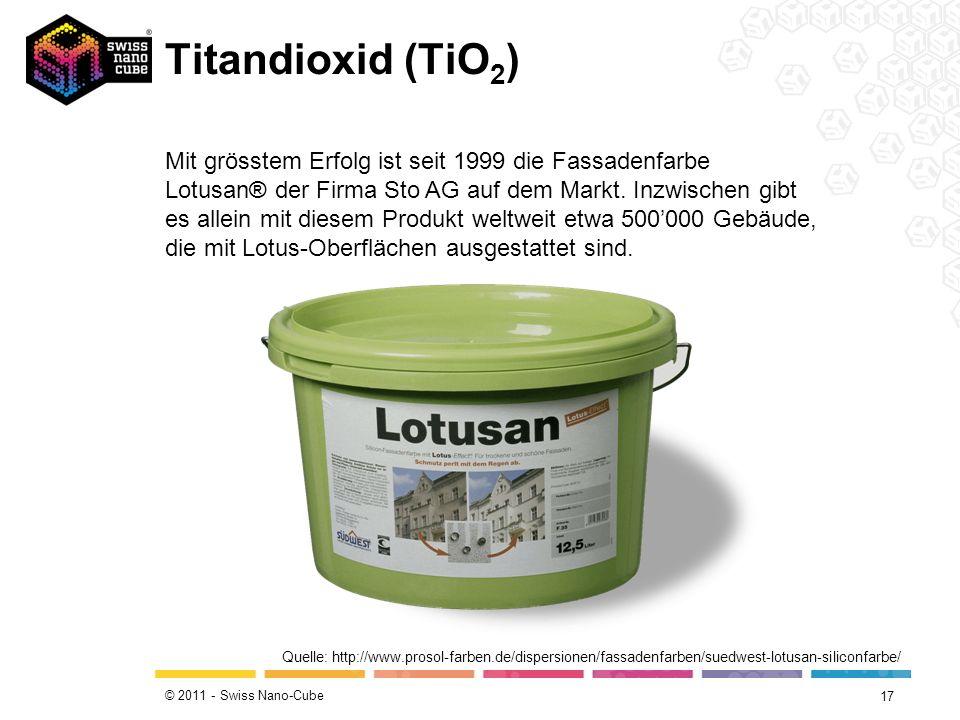 Titandioxid (TiO2)Beschichtete Brillengläser verschmutzen weniger und lassen das Wasser abperlen.