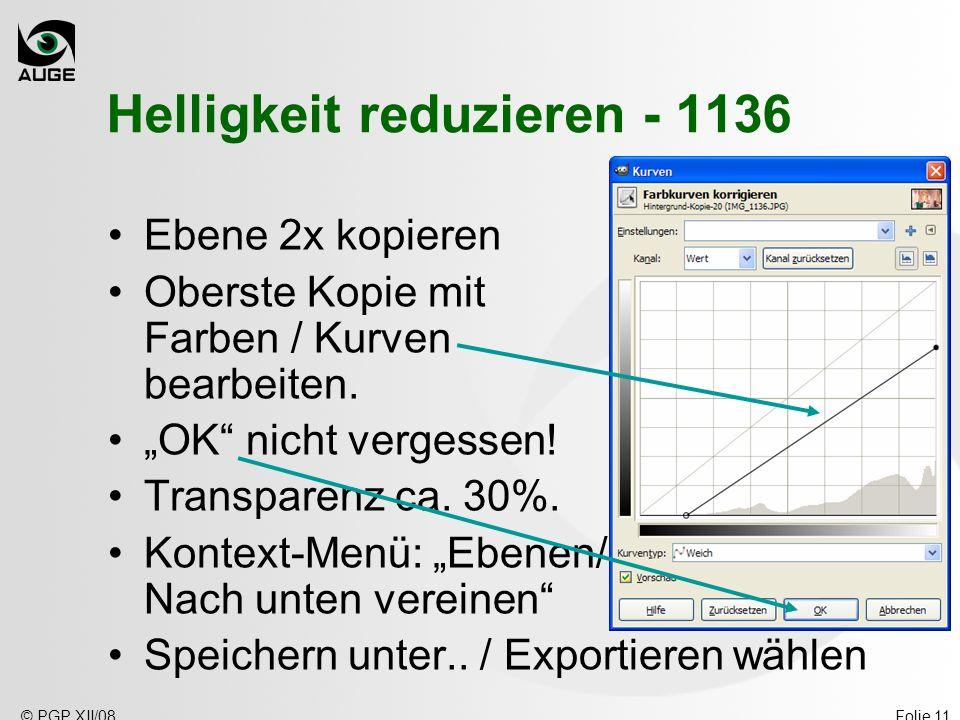 Helligkeit reduzieren - 1136