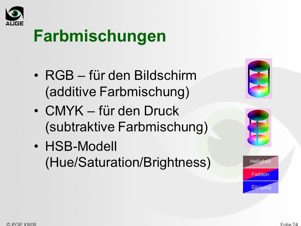 Farbmischungen RGB – für den Bildschirm (additive Farbmischung)