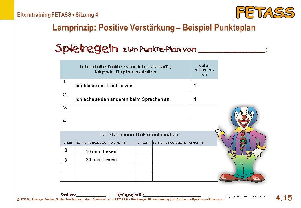 Lernprinzip: Positive Verstärkung – Beispiel Punkteplan