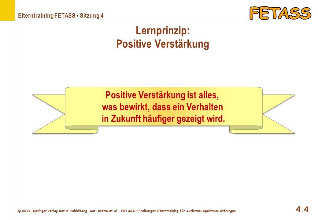 Lernprinzip: Positive Verstärkung