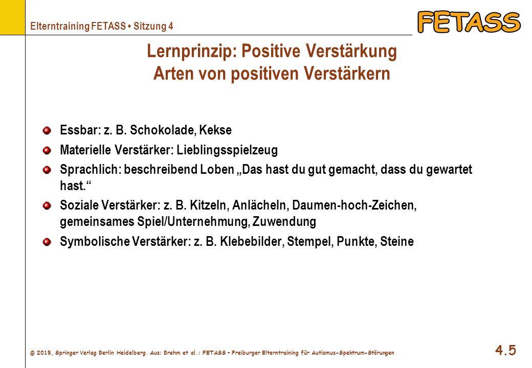 Lernprinzip: Positive Verstärkung Arten von positiven Verstärkern