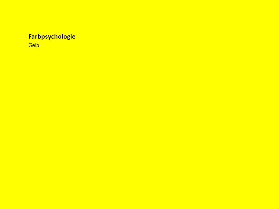 Farbpsychologie Gelb