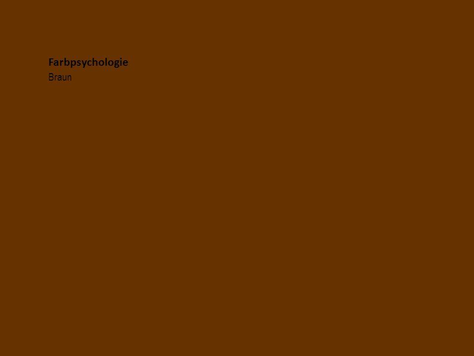 Farbpsychologie Braun