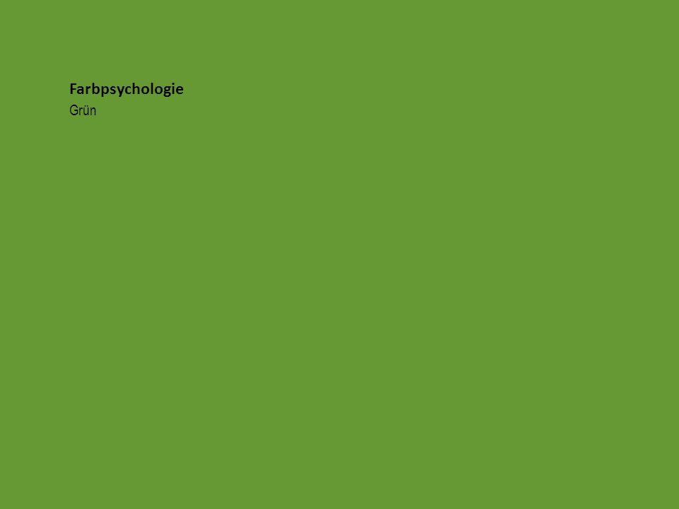 Farbpsychologie Grün