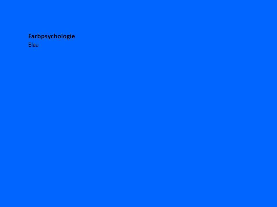 Farbpsychologie Blau