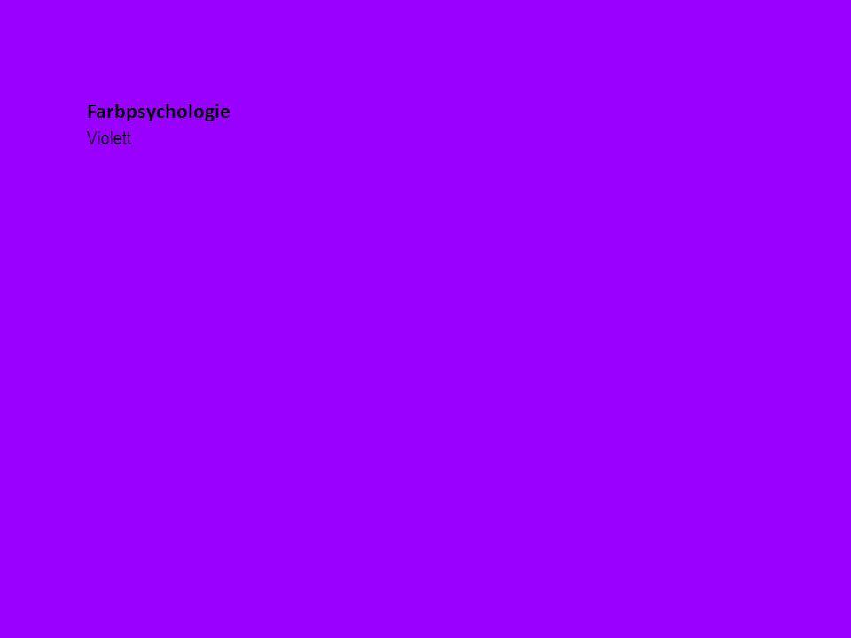 Farbpsychologie Violett