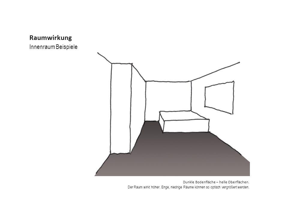 Raumwirkung Innenraum Beispiele