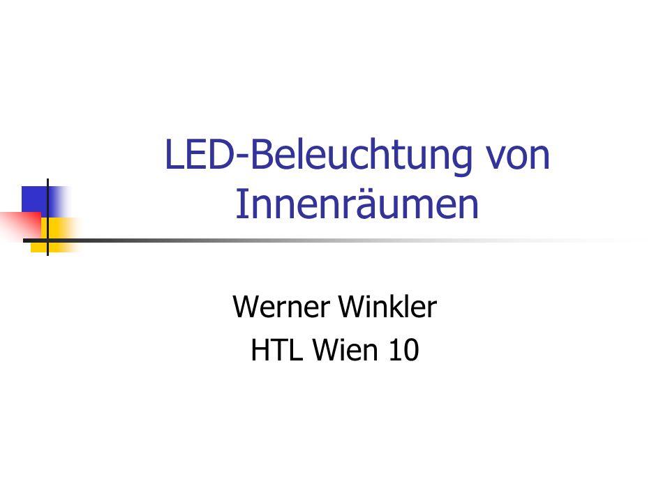 LED-Beleuchtung von Innenräumen
