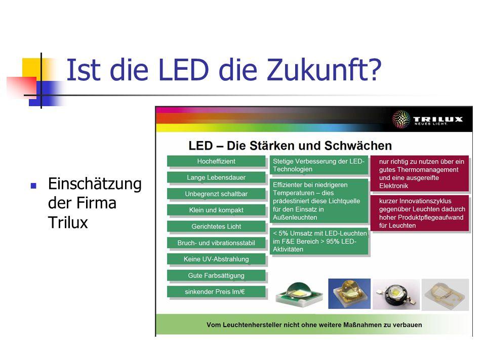 Ist die LED die Zukunft Einschätzung der Firma Trilux