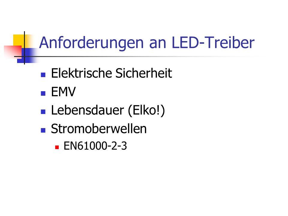 Anforderungen an LED-Treiber