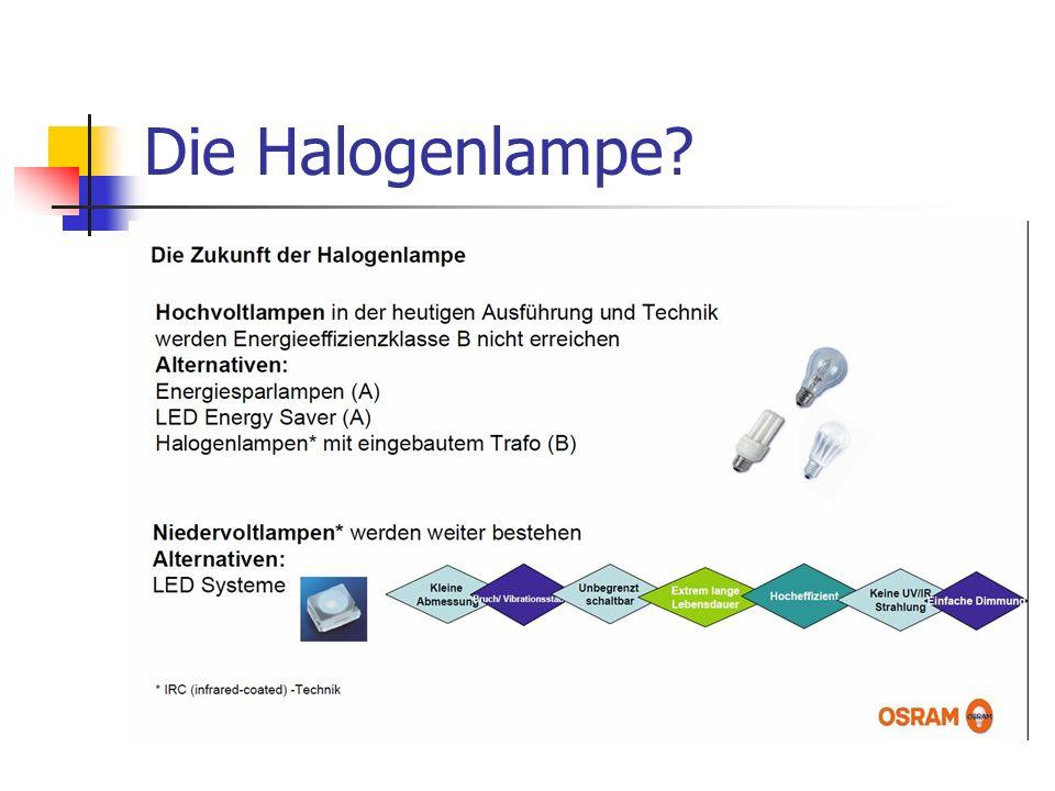 Die Halogenlampe