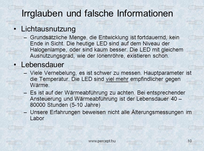 Irrglauben und falsche Informationen