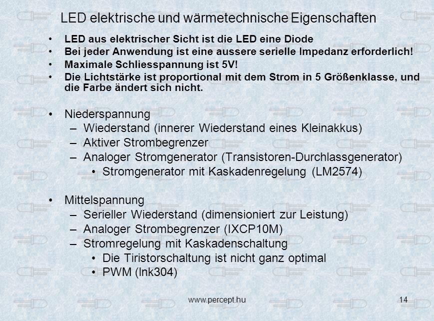 LED elektrische und wärmetechnische Eigenschaften